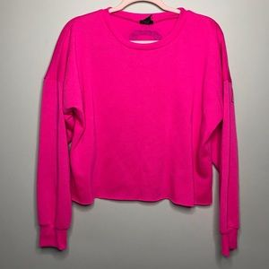 """Rue21 """"Blessed"""" Jersey Cropped Pullover Sweater"""